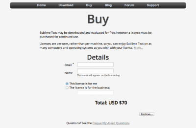 Sublime Text - Buy